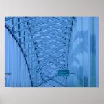 Bridge Illinois State Line Poster