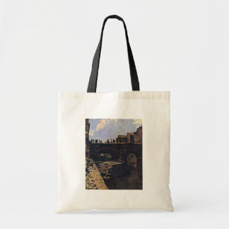 Bridge In A French Town By Lépine Stanislas Canvas Bags