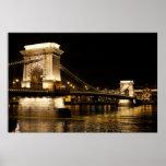 Bridge in  Budapest Print