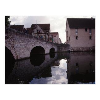 Bridge in Chartres, France Postcard