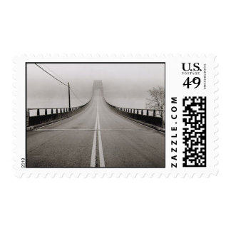 Bridge in Fog Postage Stamps