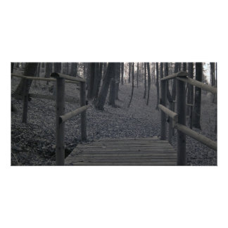 Bridge in Forest/Infrared Photography Card
