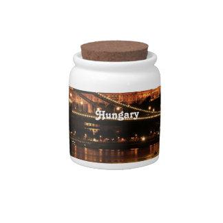 Bridge in Hungary Candy Jar