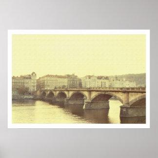 Bridge In Prague Poster