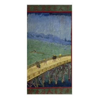 Bridge in Rain after Hiroshige by Vincent Van Gogh Card