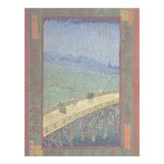 Bridge in Rain after Hiroshige by Vincent Van Gogh Flyer