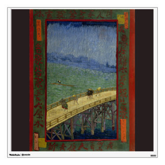 Bridge in Rain after Hiroshige by Vincent Van Gogh Wall Decal