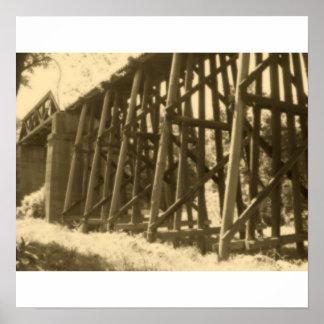 Bridge in Sepia Posters