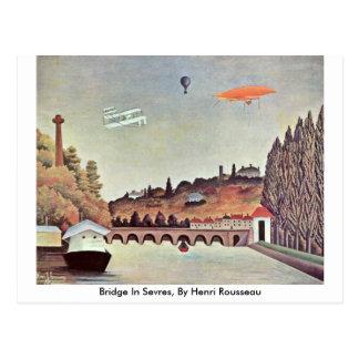 Bridge In Sevres, By Henri Rousseau Postcard
