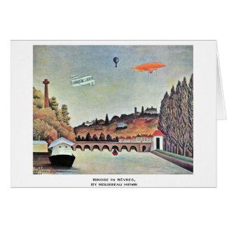 Bridge In Sèvres,  By Rousseau Henri Card