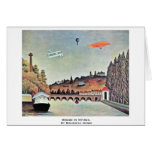 Bridge In Sèvres,  By Rousseau Henri Greeting Card