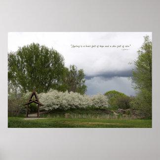 Bridge in Spring Poster