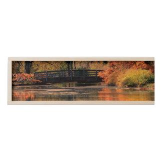 Bridge in the Fall wooden Box