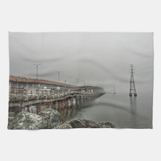 Bridge in the Fog 2 Hand Towel