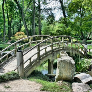 Bridge in the Garden Acrylic Cut Outs
