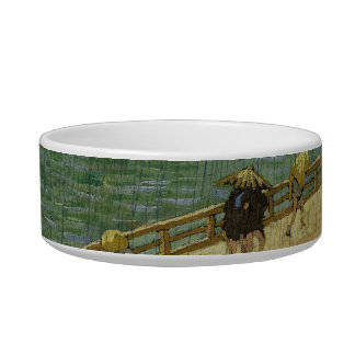 Bridge in the Rain Pet Bowl