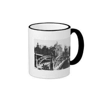 Bridge in the Speicherstadt  Hamburg, c.1910 Ringer Mug