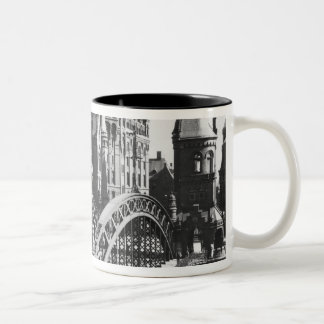 Bridge in the Speicherstadt  Hamburg, c.1910 Two-Tone Coffee Mug
