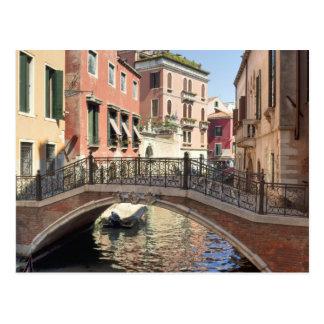 Bridge in Venice Canal Postcard
