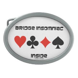 Bridge Insomniac Inside (Four Card Suits) Belt Buckle