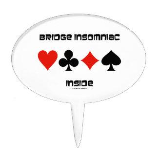 Bridge Insomniac Inside (Four Card Suits) Cake Topper