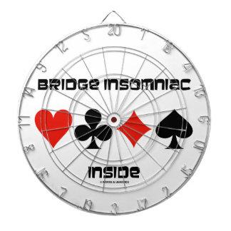 Bridge Insomniac Inside (Four Card Suits) Dartboard With Darts