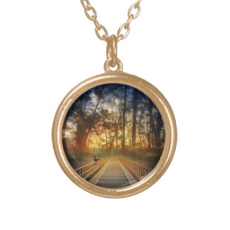 Bridge into Sunset Gold Plated Necklace