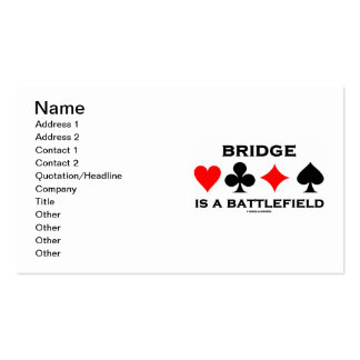 Bridge Is A Battlefield (Bridge Saying Card Suits) Double-Sided Standard Business Cards (Pack Of 100)