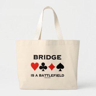 Bridge Is A Battlefield (Four Card Suits) Bags