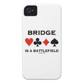 Bridge Is A Battlefield (Four Card Suits) iPhone 4 Case-Mate Cases