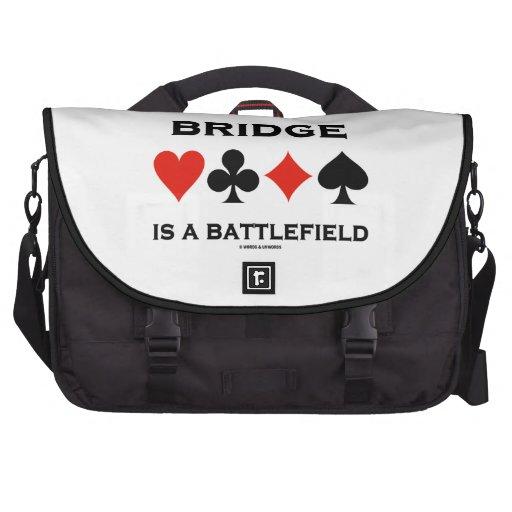 Bridge Is A Battlefield (Four Card Suits) Laptop Messenger Bag