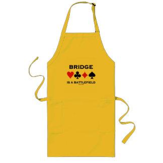 Bridge Is A Battlefield (Four Card Suits) Long Apron