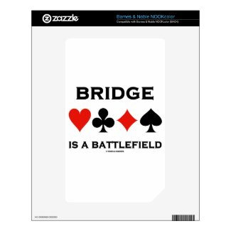 Bridge Is A Battlefield (Four Card Suits) NOOK Color Decals