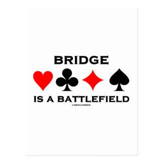 Bridge Is A Battlefield Postcard