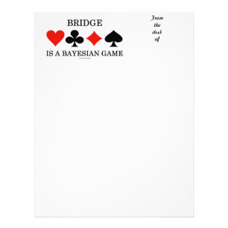 Bridge Is A Bayesian Game (Four Card Suits)