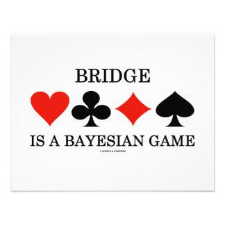 Bridge Is A Bayesian Game Custom Invitations