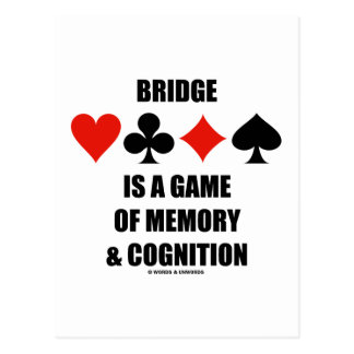 Bridge Is A Game Of Memory & Cognition Post Cards