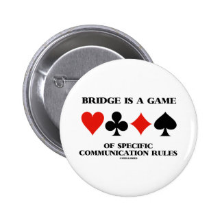 Bridge Is A Game Of Specific Communication Rules Buttons