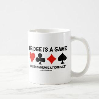 Bridge Is A Game Where Communication Is Key Classic White Coffee Mug