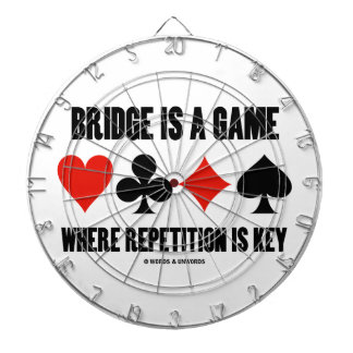 Bridge Is A Game Where Repetition Is Key Dartboard