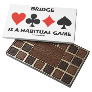 Bridge Is A Habitual Game Four Card Suits 45 Piece Box Of Chocolates