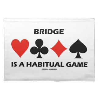 Bridge Is A Habitual Game Four Card Suits Cloth Placemat