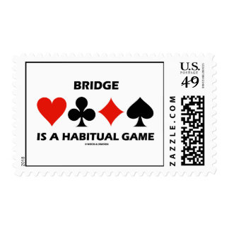 Bridge Is A Habitual Game (Four Card Suits) Stamp