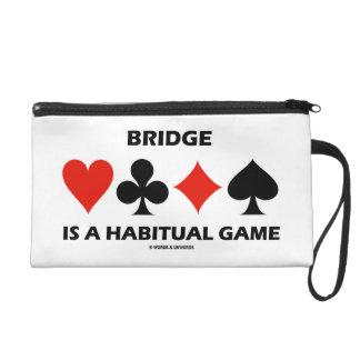 Bridge Is A Habitual Game Four Card Suits Wristlet