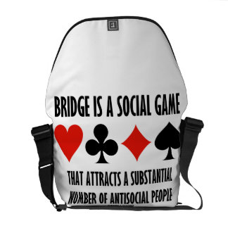 Bridge Is A Social Game Attracts Antisocial People Courier Bag