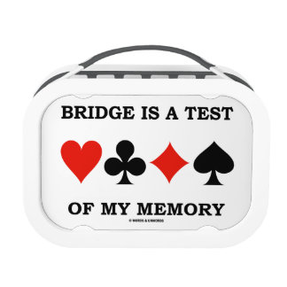 Bridge Is A Test Of My Memory Four Card Suits Yubo Lunchbox