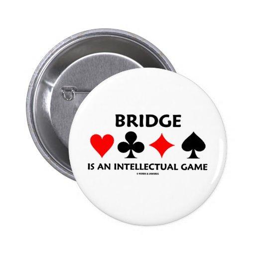 Bridge Is An Intellectual Game (Bridge Attitude) Pinback Button
