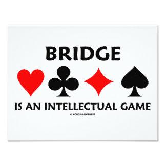 Bridge Is An Intellectual Game (Bridge Attitude) Card
