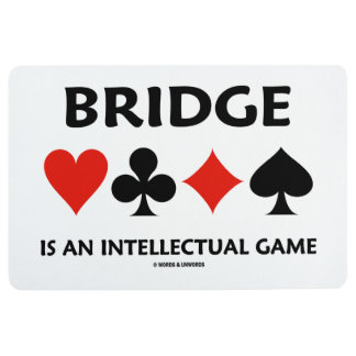 Bridge Is An Intellectual Game Four Card Suits Floor Mat