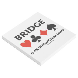 Bridge Is An Intellectual Game Four Card Suits Gallery Wrap